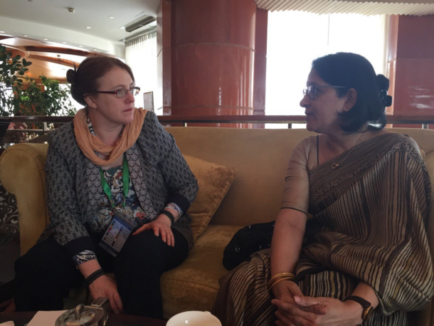 Senator Alice-Mary Higgins meets with the Director of Action Aid Bangladesh, Farah Kabir