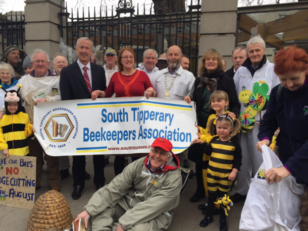 Beekeeper Protest Outside Leinster House