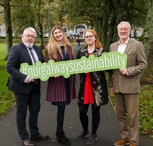Launching the NUI Galway Sustainability Strategy with Professor Pól Ó Dochartaigh, Dr Frances Fahy and Professor Colin Brown