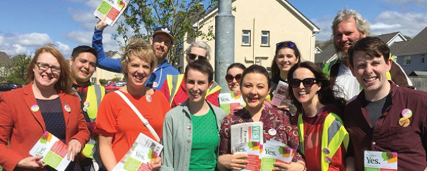 Canvassing with Together For Yes campaigners in Clare