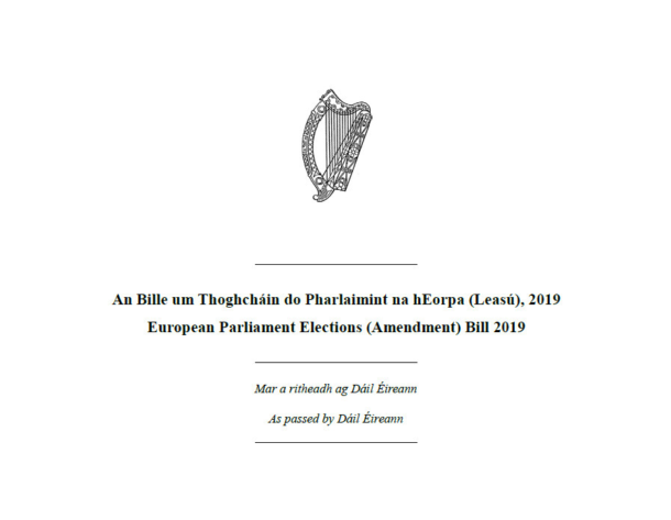 European Parliament Elections (Amendment) Bill 2019