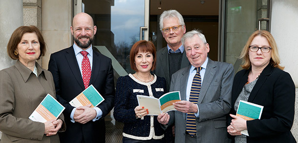 At the NUI Political Voices Symposium with Dr Attracta Halpin (Registrar NUI), Professor Philip Nolan (President Maynooth University), Minister Josepha Madigan, Sean Rainbird (Director National Gallery Ireland) and